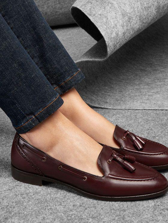 mocassin houppes bordeaux massimo dutti femme mode femme pinterest chaussure chaussures. Black Bedroom Furniture Sets. Home Design Ideas