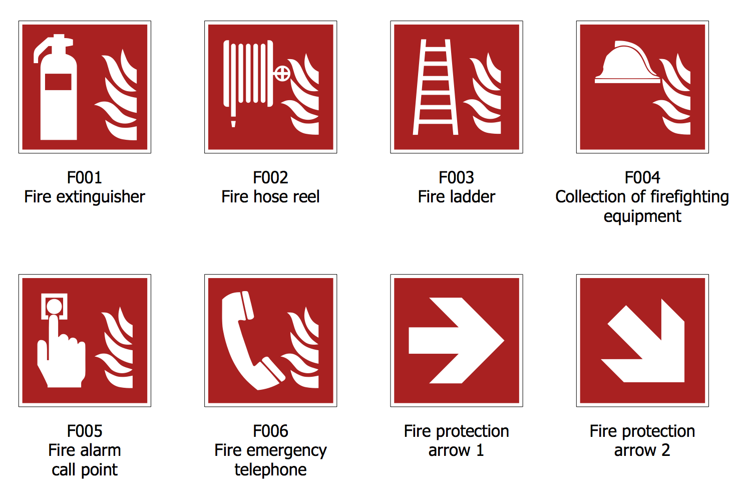 Fire and Emergency Plan FireSafety Signs Emergency