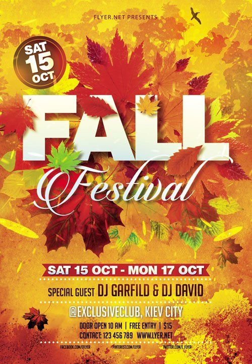 Flyer Template - Fall Festival Vol 3 + Facebook Cover FALL