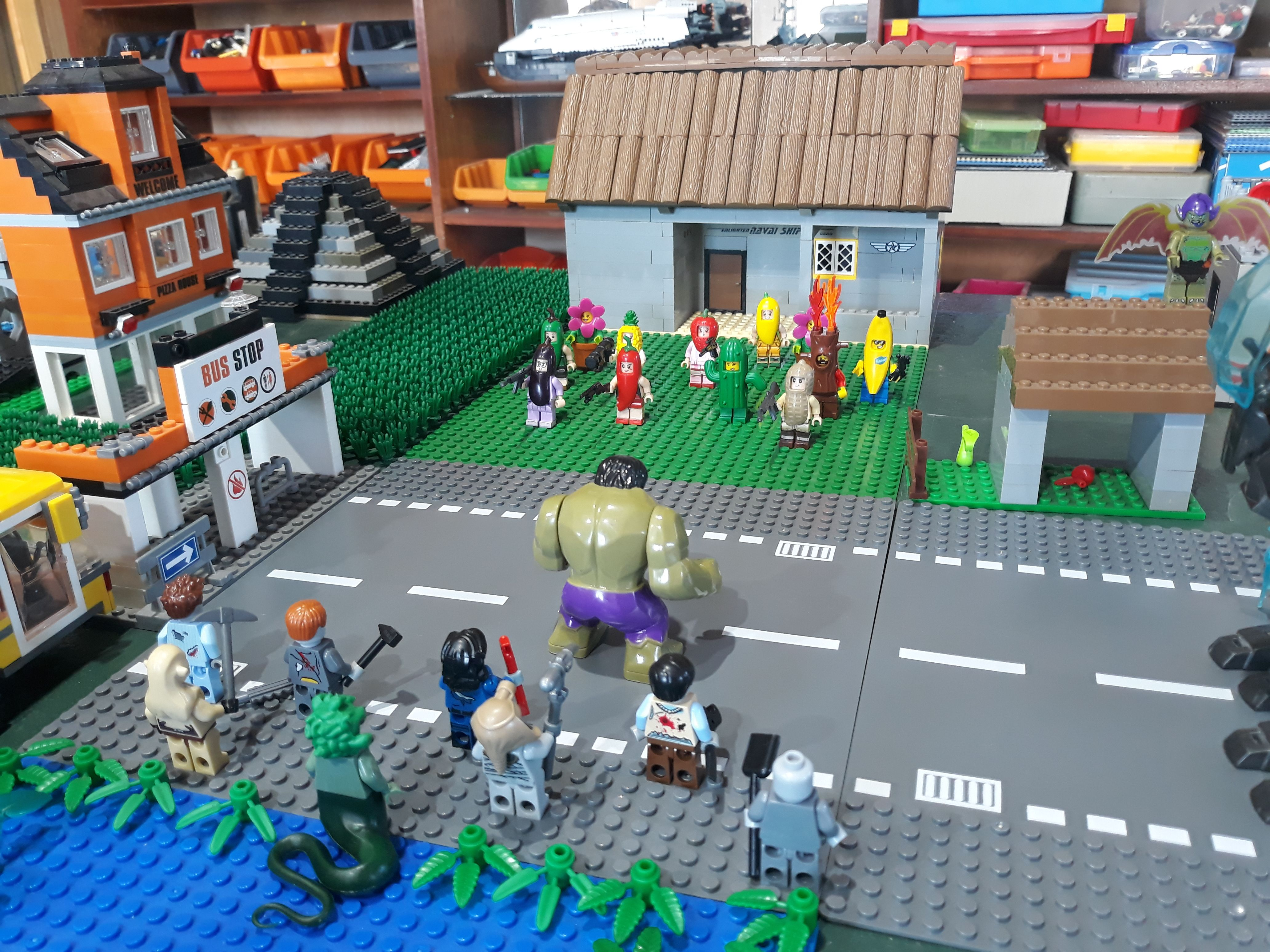 Lego Plants Vs Zombies Plants Vs Zombies Lego Zombie