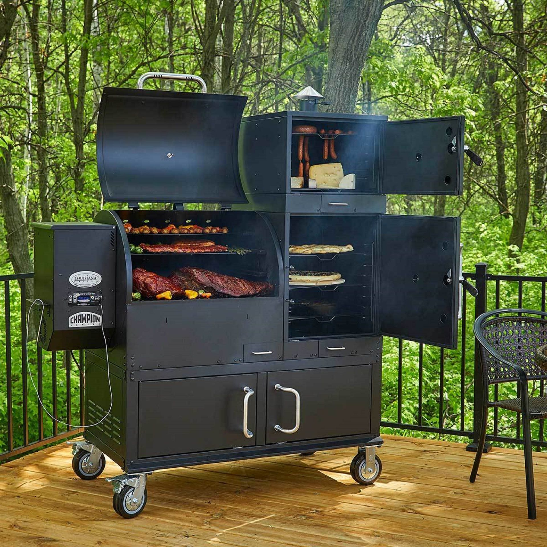 Louisiana Grills Champion Wood Pellet Grill and Smoker is ...