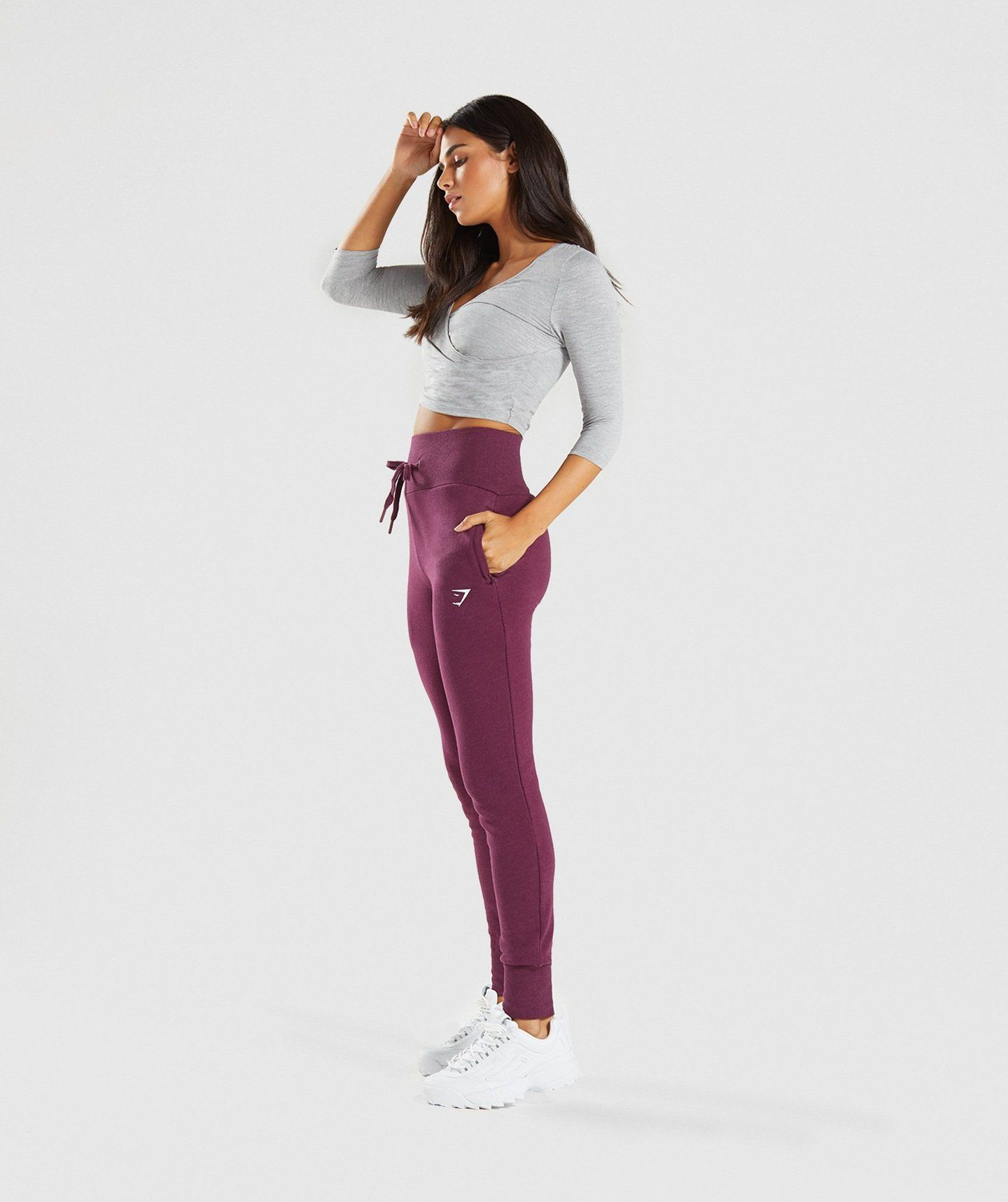 a9218c7d4f4f7 Gymshark High Waisted Joggers - Dark Ruby Marl | Workout clothes ...