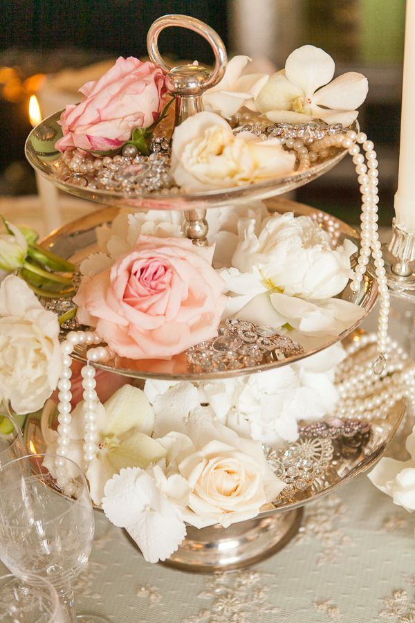 35 chic vintage pearl wedding ideas youll love vintage wedding downton abbey peach vintage wedding centerpiece httpdeerpearlflowersvintage pearl wedding ideas2 junglespirit Choice Image