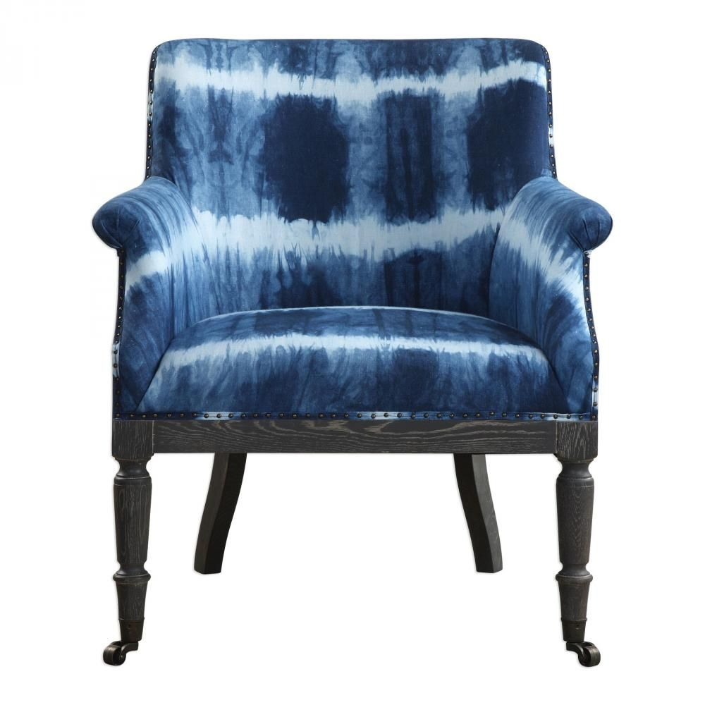 Best Uttermost Royal Cobalt Blue Accent Chair With Images 400 x 300