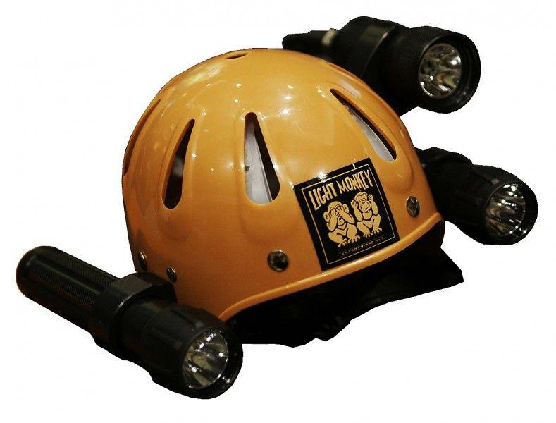 Light Monkey Hardhat And Flashlight Caddy Hard Hats Football Helmets Helmet