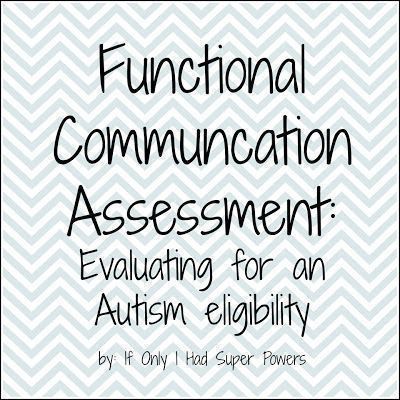 Template ideas for the Functional Communication Assessment for