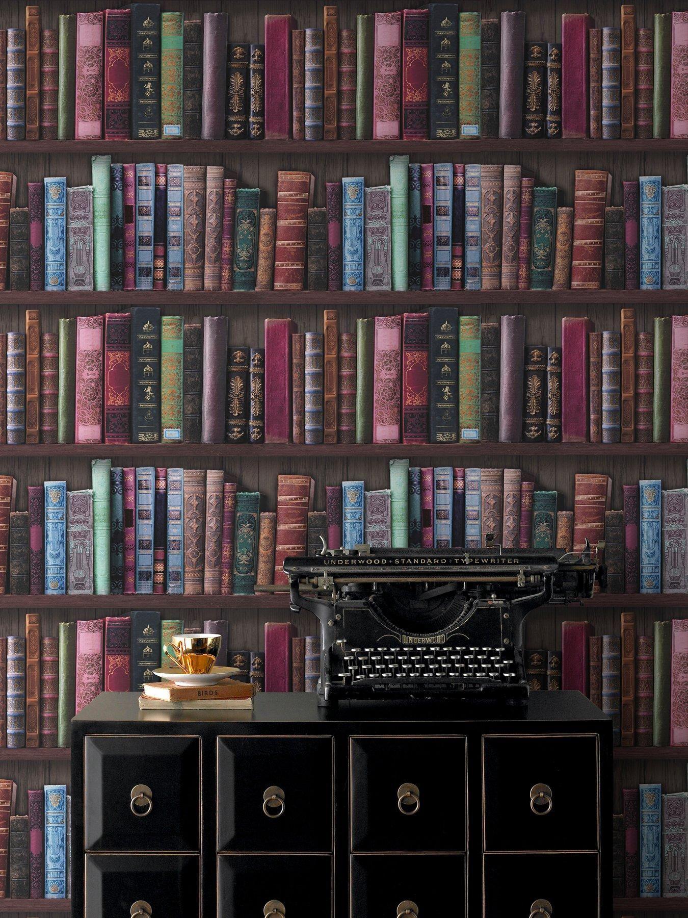 Graham Brown Book Shelf Wallpaper Room In 2019 Brown
