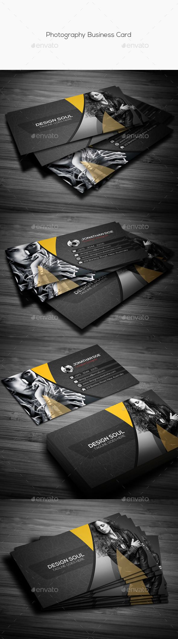 Photography business card tipografia e sinalizao photography business card cartes de visitatemplates psdprojeto reheart Images