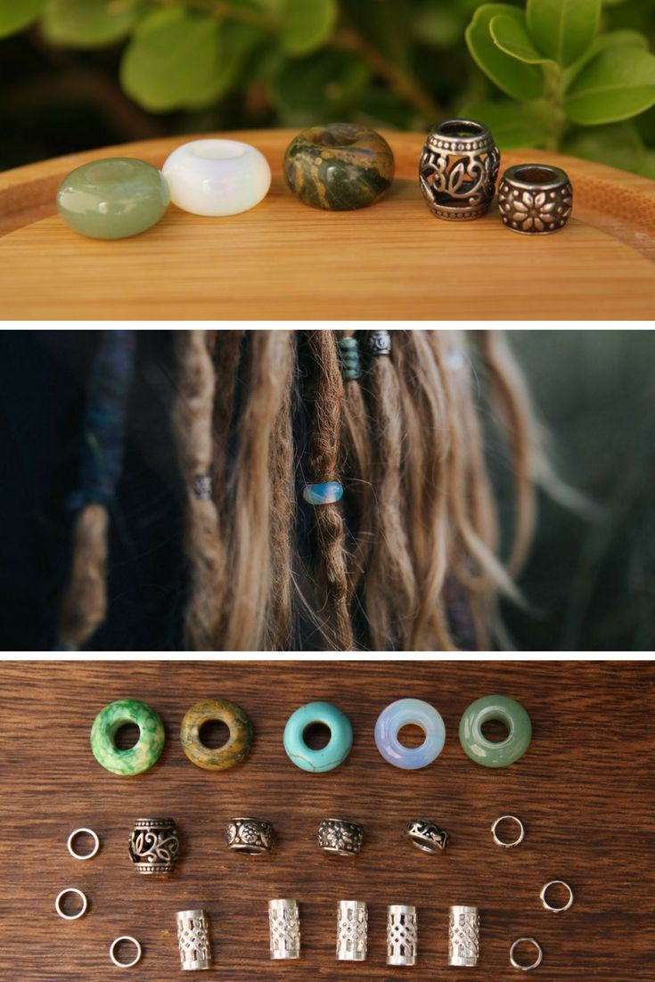 Mixed Lot Dread Beads Set Of 25 Gemstone  Stainless Steel Dreadlock Beads 5mm6mm Hole Beautiful stunning dread beads