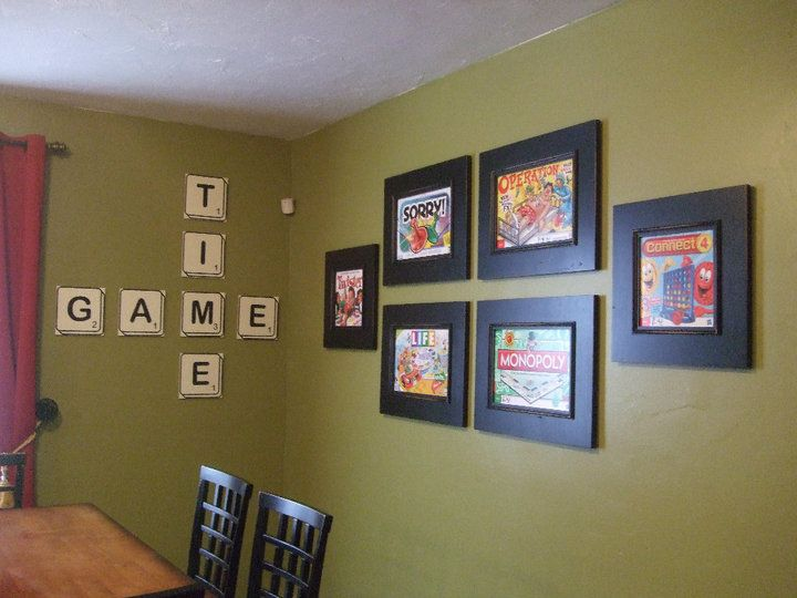Cute Idea For A Game Room Game Room Decor Game Room Wall Art