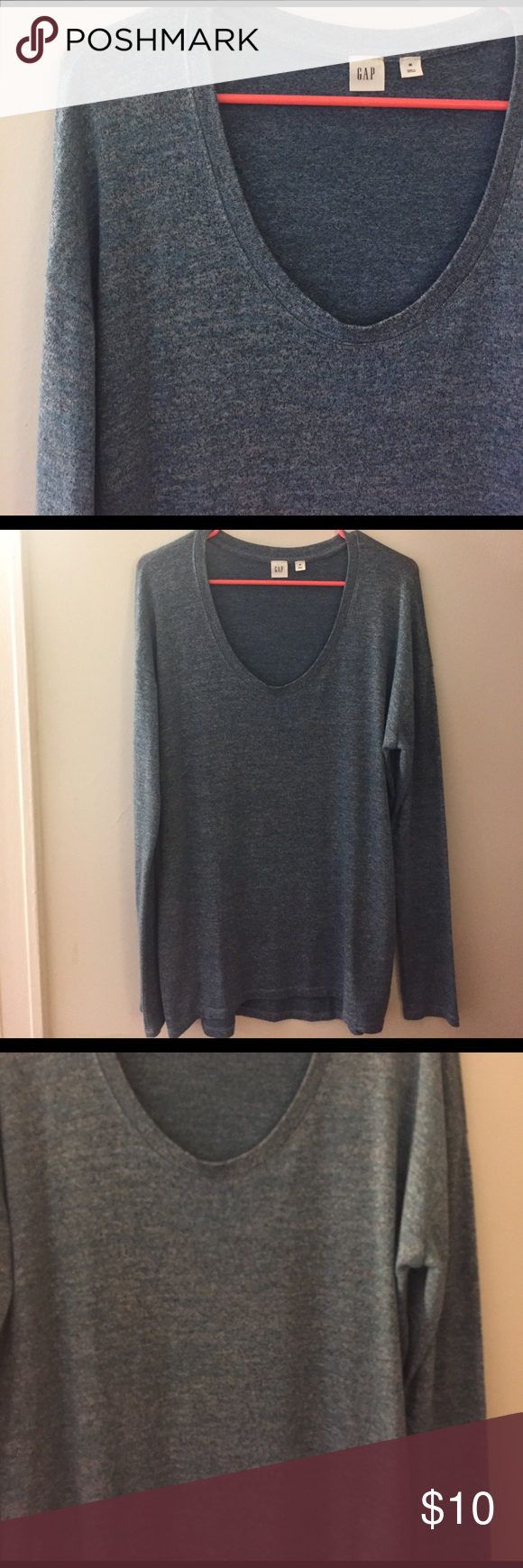 Gap basic long sleeve Brand new long sleeve gap crew neck tee. Excellent condition and never worn. Perfect for layering. GAP Tops Tees - Long Sleeve