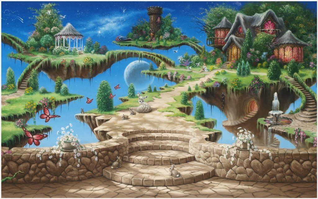 dream island fantasy world creative wallpaper dream