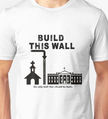 15f00e1db98c Build a wall between church and state trump t shirt T-Shirt | build ...