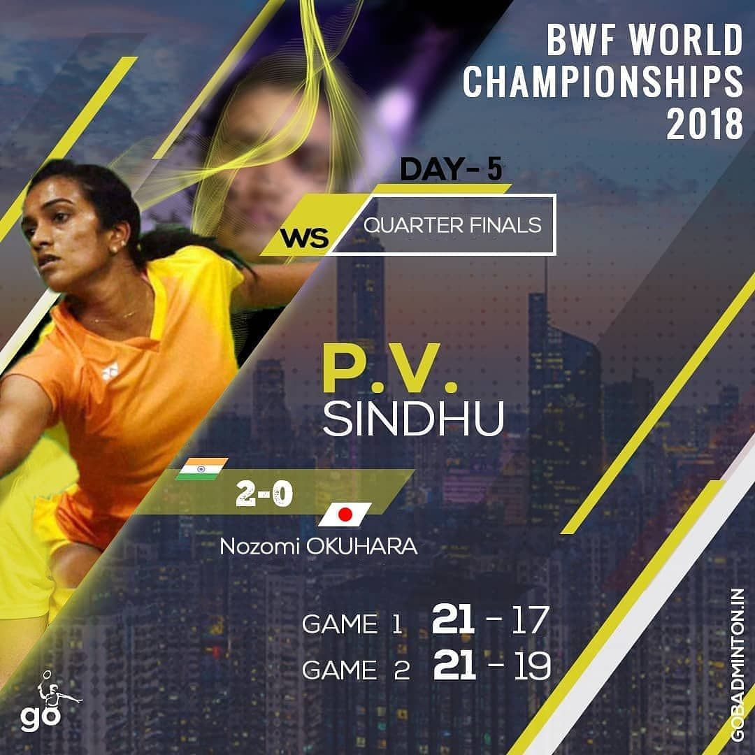 That Was An Epic Quarterfinals Today With Amazing Moves Strategies Smashes And Screams Wishes To Sports News Update World Championship 2018 Badminton Sport