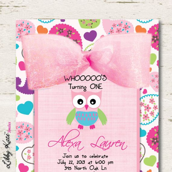 Owl Birthday Invitation First By LibbyKateSmiles On Etsy 169