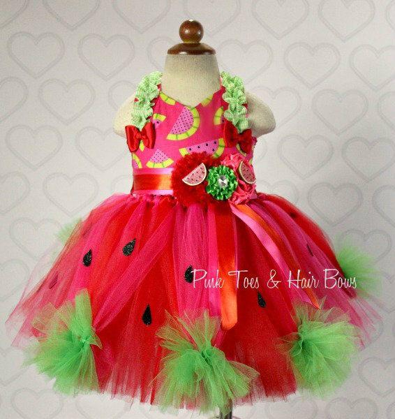 Watermelon tutu dress- Watermelon Pageant dress- Watermelon Costume ...