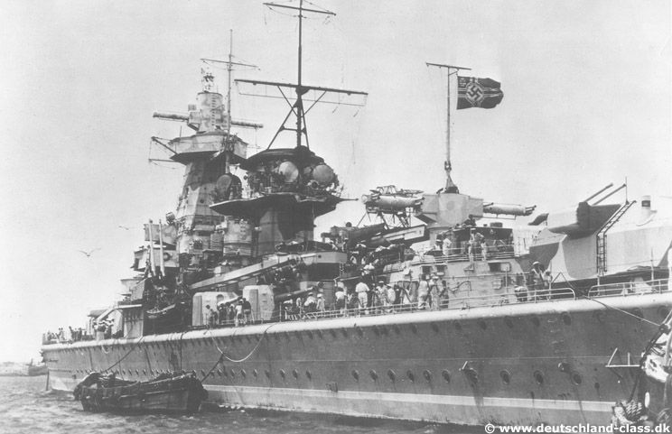 Port side view of Admiral Graf Spee.