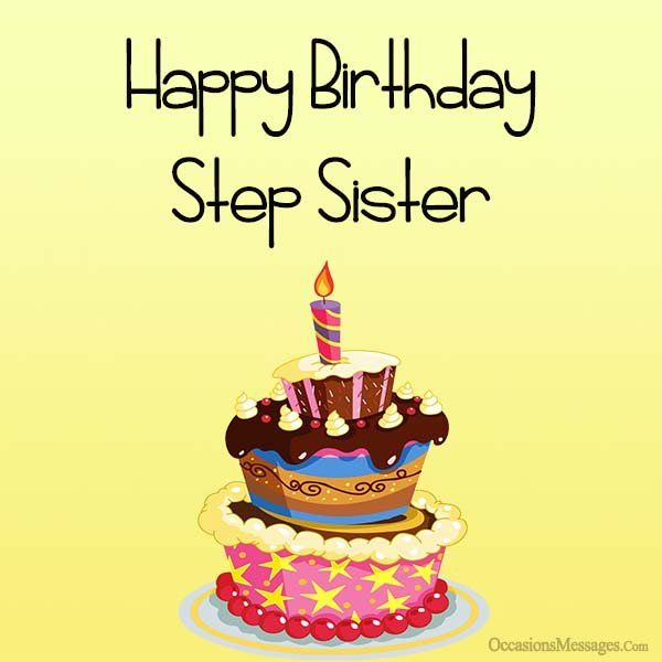 Happy birthday cards for step sister birthday pinterest happy happy birthday cards for step sister birthday pinterest happy birthday and messages m4hsunfo