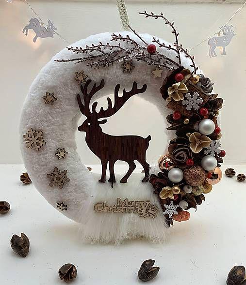 Vianočný veniec na dvere / Ingara - SAShE.sk #couronnedenoel