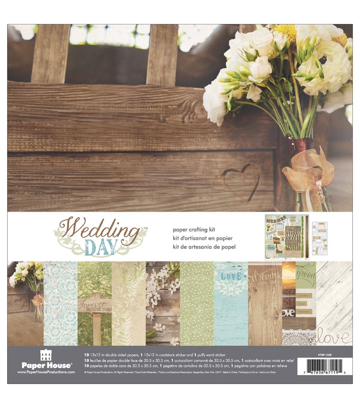12x12 wedding scrapbook paper - Paper House Paper Crafting Kit Wedding Day