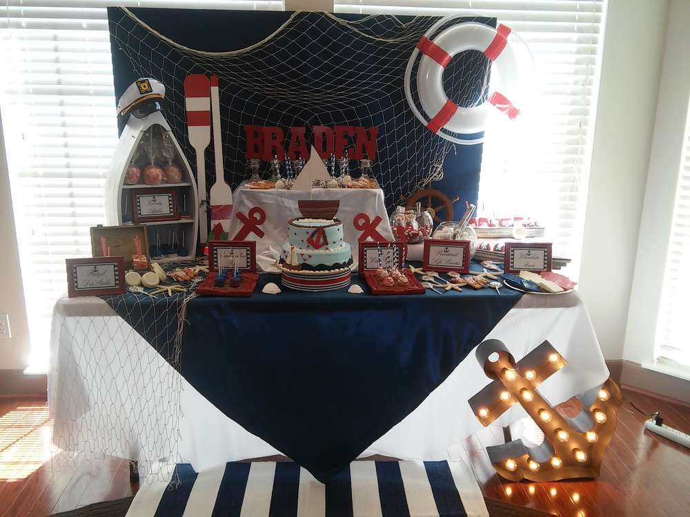 My Little Sailor Baby Shower Party Ideas Nautical Theme Baby