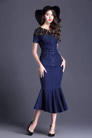 Denim Fishtail Dress