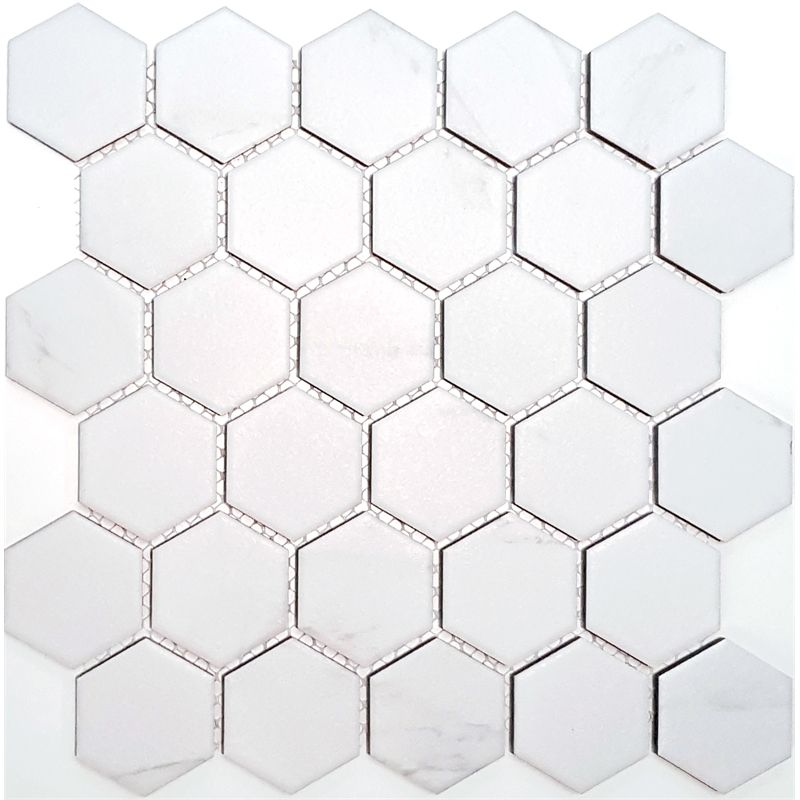 Find Coulson 312 X 326 White Hexagon Mosaic Tile Sheet At
