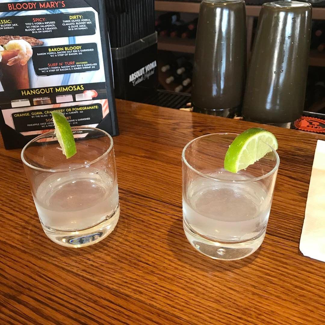 Patron Silver Tequila Shots STAT! The Hangout Restaurant