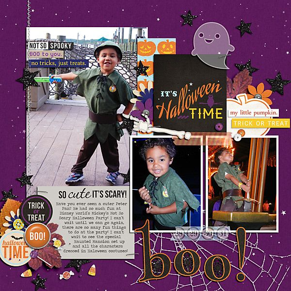 boo! Template: October 13 Template Freebie by Sahlin Studio Kit: Project Mouse: Halloween Edition by Sahlin Studio and Brittish Designs