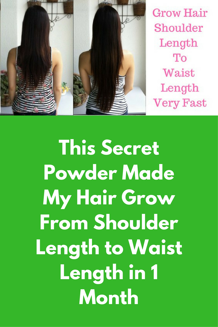 This Secret Powder Made My Hair Grow From Shoulder Length To Waist Length In 1 Month Ingredients R Coconut Oil Hair Care Grow Hair Coconut Oil Hair Conditioner