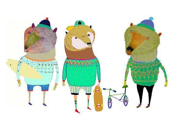 Illustration Tirage Original Dessin Decoration Enfants