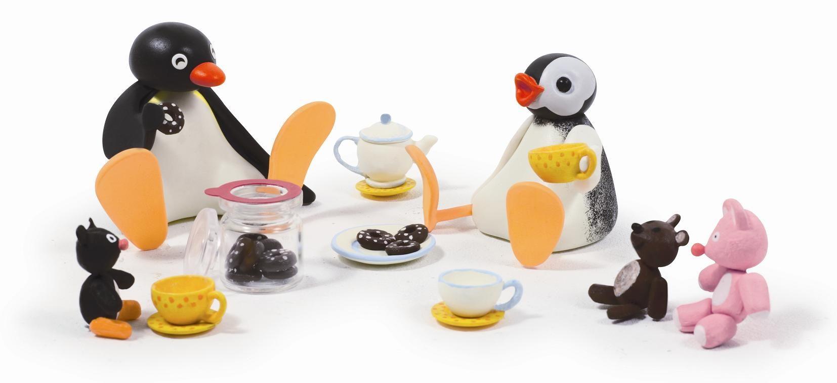 Pingu and Pinga at a tea party | Pingu | Pinterest