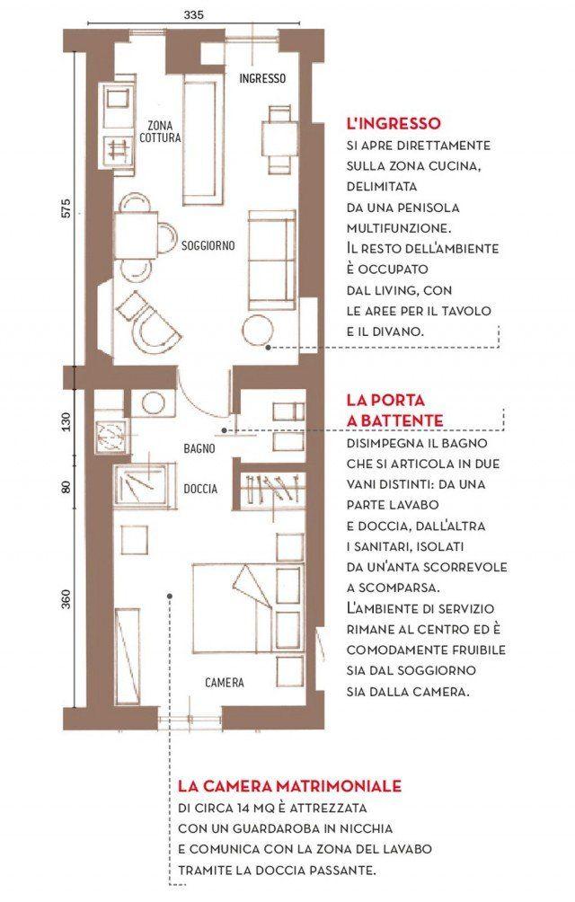 Bilocale ricavato da una casa pi grande arch concepts for Piantine di case