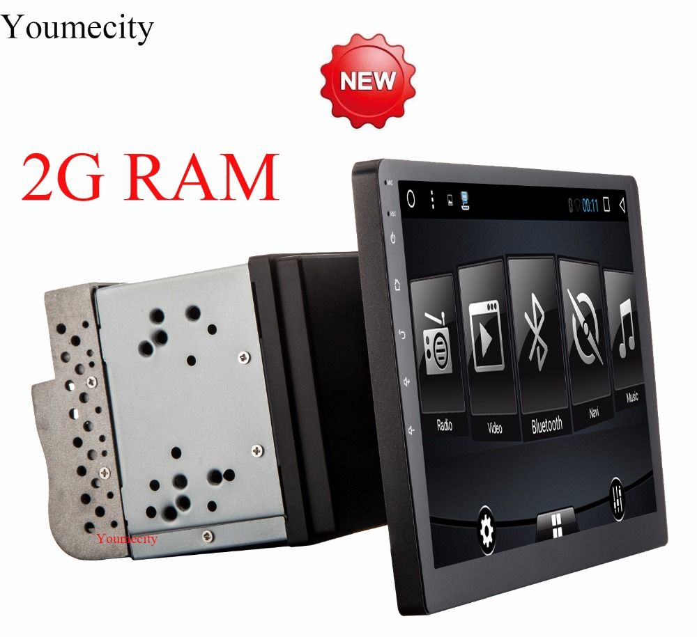 """10.1/""""Single 1DIN System Car Android 7.1 Stereo Radio Player WIFI GPS Safe Device"""