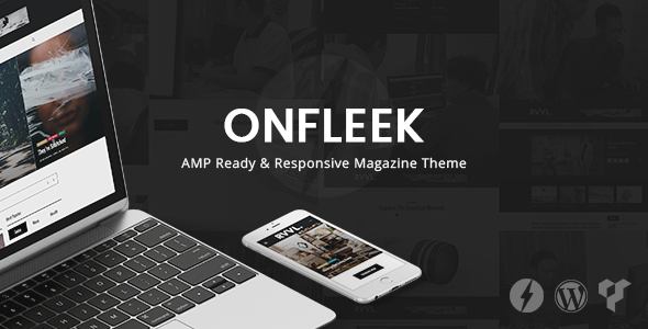 Theme Onfleek 1.6 AMP Ready and Responsive Magazine