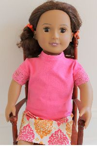 American Girl Doll Knit Shirt #girldollclothes