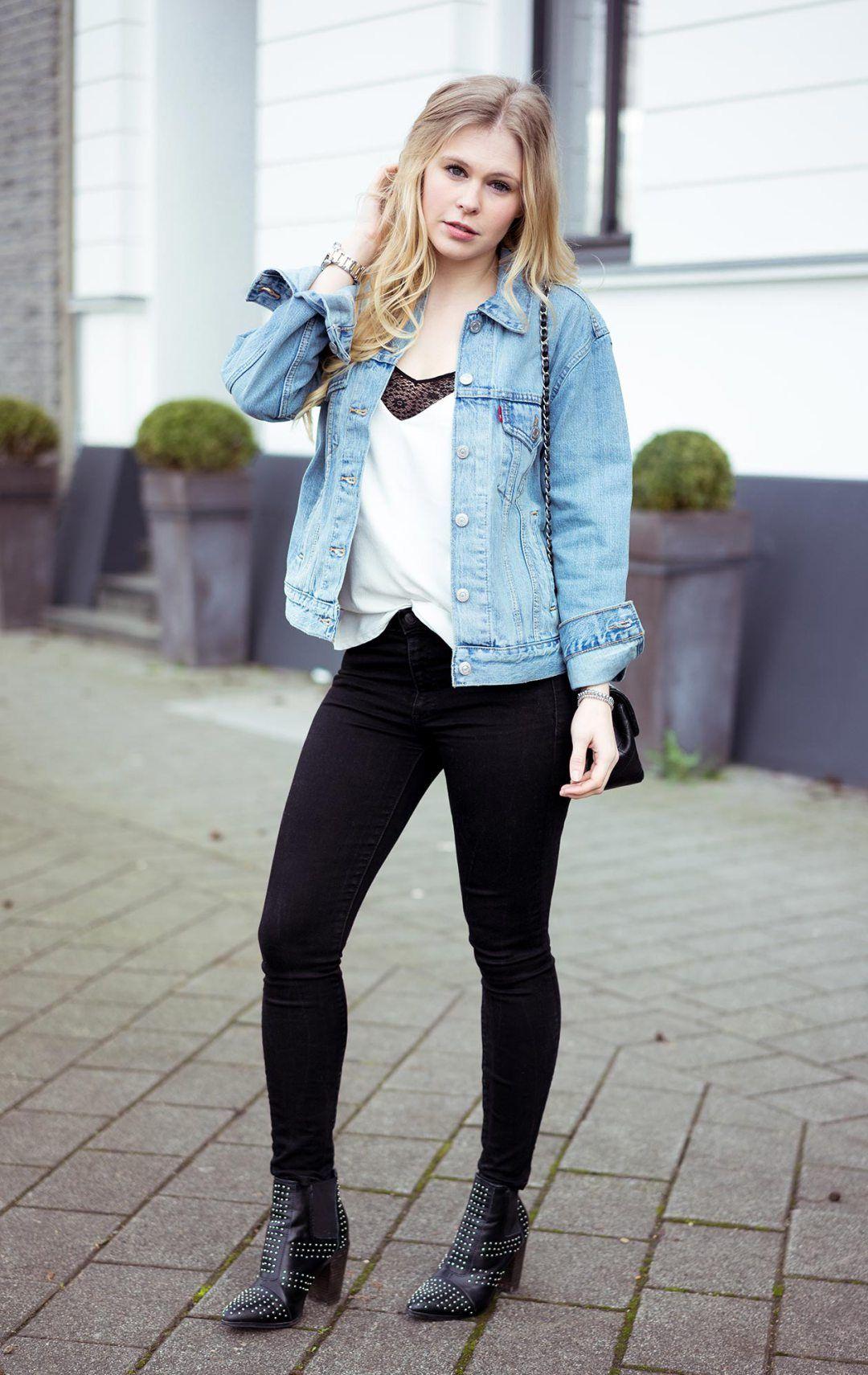 Oversize jeansjacke levis
