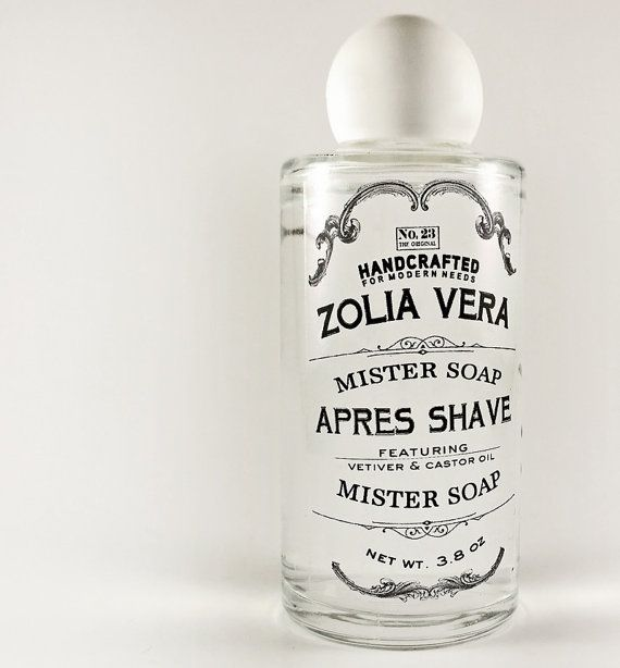 Charm your man with a barbershop classic! Witch hazel infused with castor oil for extra comfort. Packed with aloe vera and glycerin. ZoliaVera.etsy.com $9