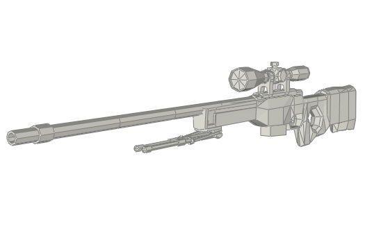 Full Size Lite Version AWP Sniper Rifle Free Paper Model Download