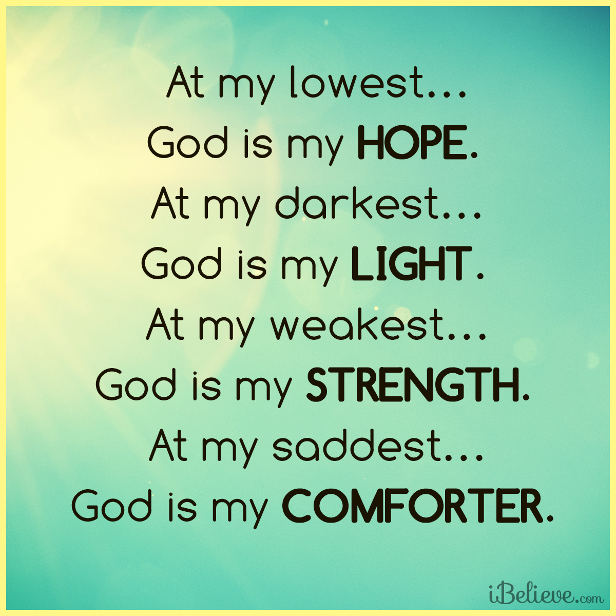Lord You Are My Hope Light Strength And Peace Inspirations