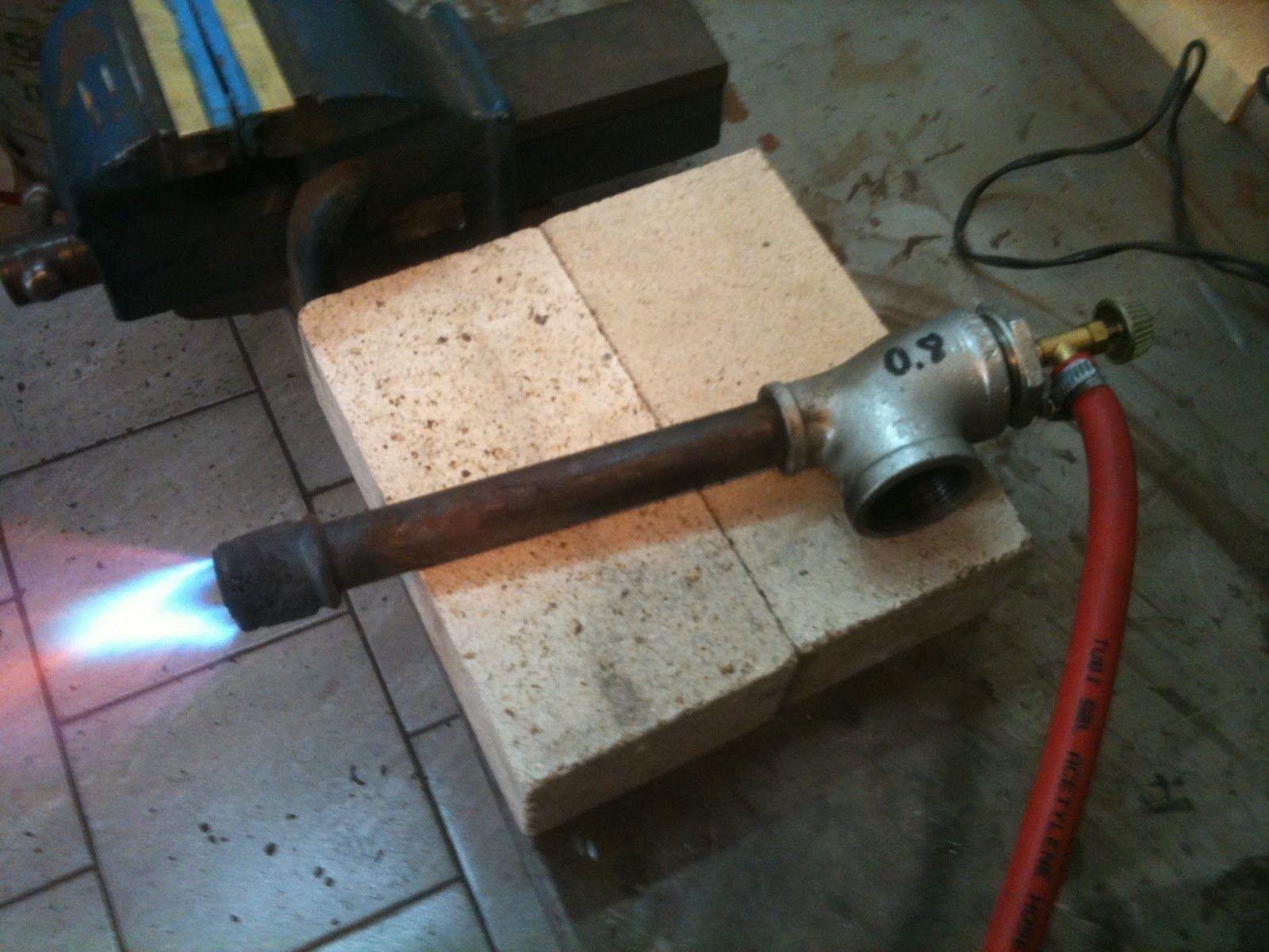 Homemade pipe burner forced air homemade propane burner