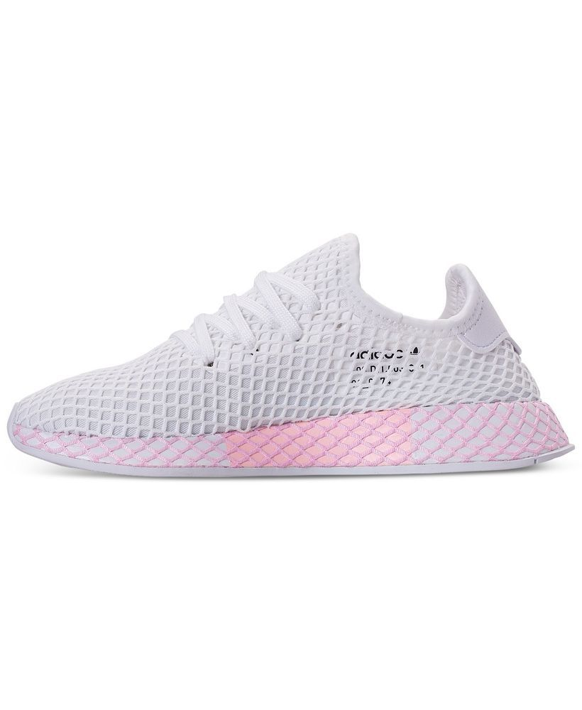 9609efab8bbdd Adidas Deerupt Runner Women Size 9.5 MEN SIZE 8 White Pink Netting  fashion   clothing  shoes  accessories  womensshoes  athleticshoes (ebay link)