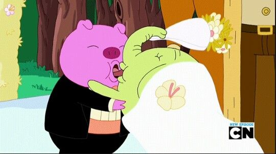 Adventure Time Apple Wedding Tree Trunks Amp Mr Pig