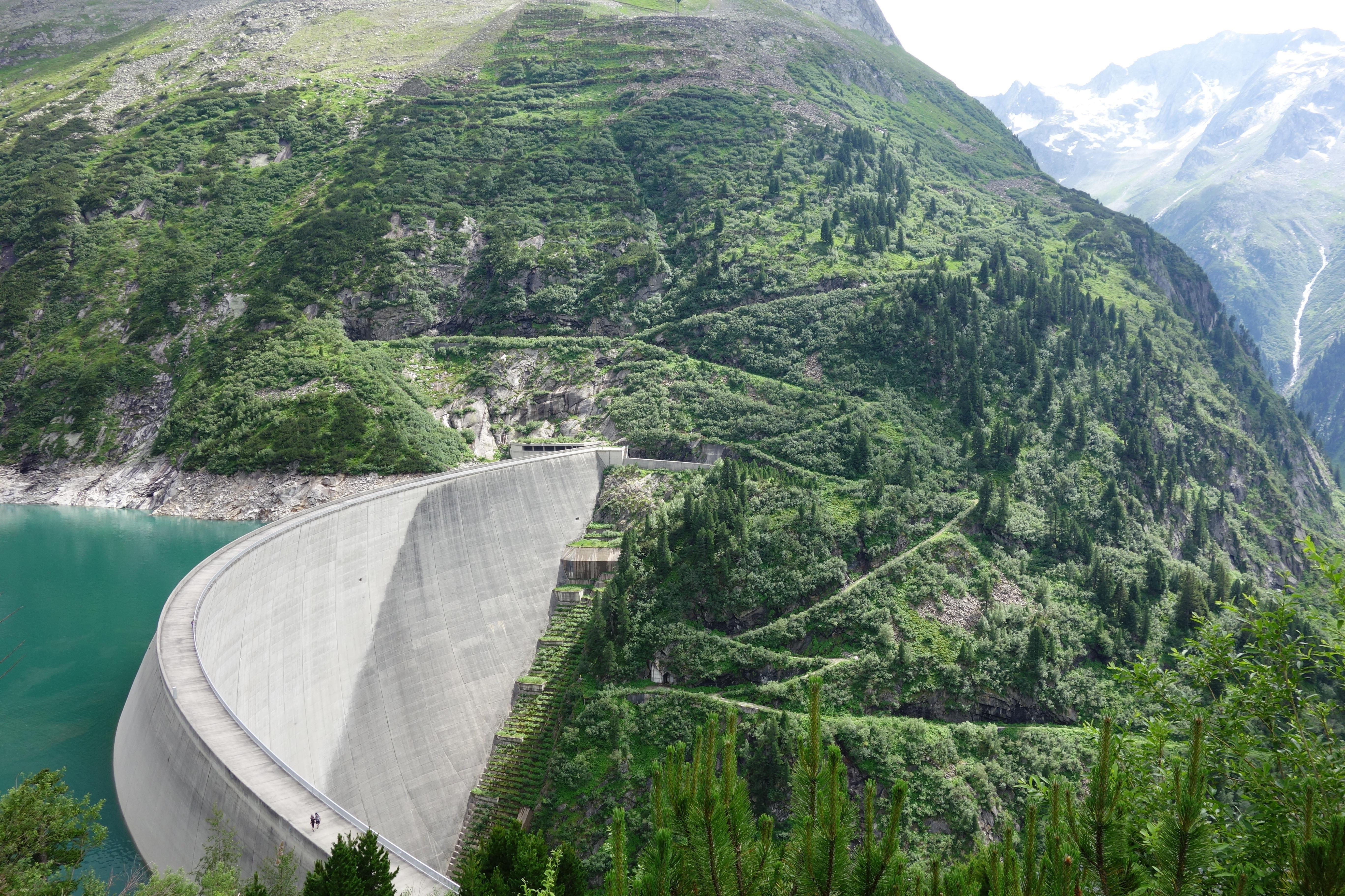 Zillergründl dam austria oc x infrastructureporn