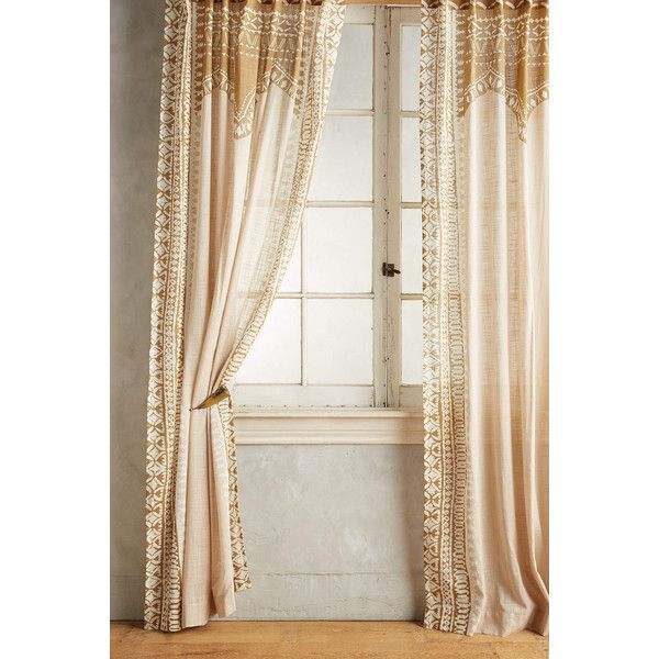 Anthropologie Cordelia Curtain ($98) ❤ liked on Polyvore featuring home, home decor, window treatments, curtains, taupe, anthropologie, taupe curtains, cotton curtains, anthropologie curtains and anthropologie home decor