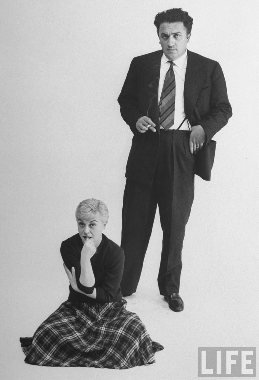 Italian dir. Federico Fellini and actress wife Giulietta ...