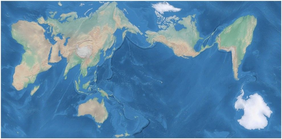 This is the AuthaGraph World Map, which projects a map of the globe ...