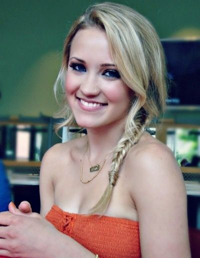 Emily Osment Young And Hungry Braided Hair