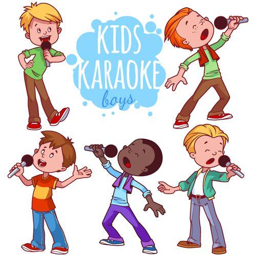 Lovely Kids Children Cartoon Graphics Vector Set 07 Anak Ide Ruang Kelas Ide