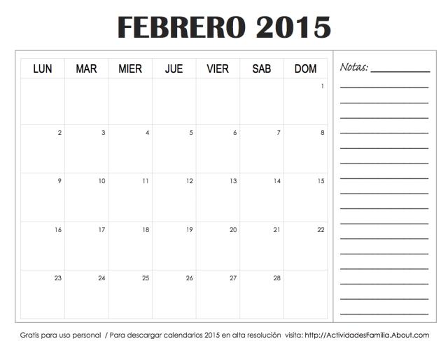 A organizar el mes 5 dise os de calendarios de febrero - Disenos de calendarios ...